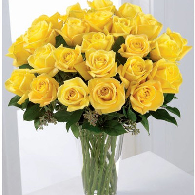 Two Dozen Yellow Roses from Fabbrini's Flowers in Hoffman Estates, IL