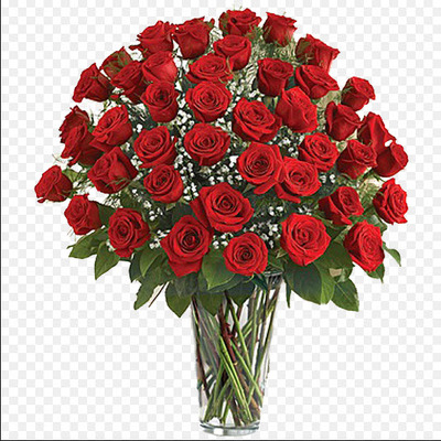 Three Dozen Red Roses from Fabbrini's Flowers in Hoffman Estates, IL