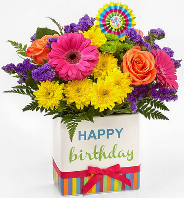B201 Happy Birthday from Fabbrini's Flowers in Hoffman Estates, IL