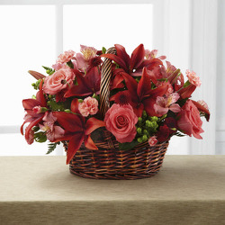 E106 Red Is Everything from Fabbrini's Flowers in Hoffman Estates, IL