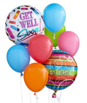 BB102 Get Well Balloon Bouquet from Fabbrini's Flowers in Hoffman Estates, IL