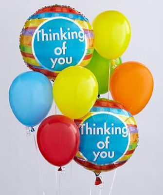 BB103 Thinking of You Balloon Bouquet from Fabbrini's Flowers in Hoffman Estates, IL