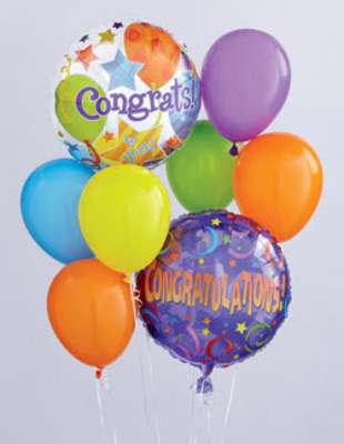 BB104 Congrats Balloon Bouquet from Fabbrini's Flowers in Hoffman Estates, IL