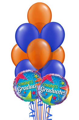 BB121 Graduation Balloon Bouquet from Fabbrini's Flowers in Hoffman Estates, IL