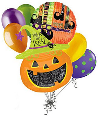 BB122 Halloween Balloon Bouquet from Fabbrini's Flowers in Hoffman Estates, IL