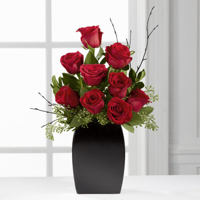 Contemporary Dozen Roses  from Fabbrini's Flowers in Hoffman Estates, IL