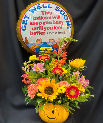E121 Get Well Smiley from Fabbrini's Flowers in Hoffman Estates, IL