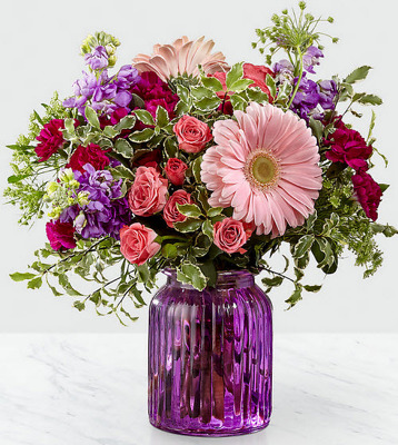 ES107 mixed pastel vase arrangement from Fabbrini's Flowers in Hoffman Estates, IL