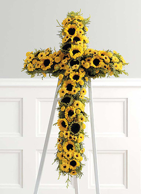 S138 Bright Blessings Cross from Fabbrini's Flowers in Hoffman Estates, IL