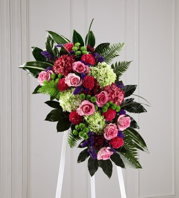 S111 Serenity easel arrangement from Fabbrini's Flowers in Hoffman Estates, IL
