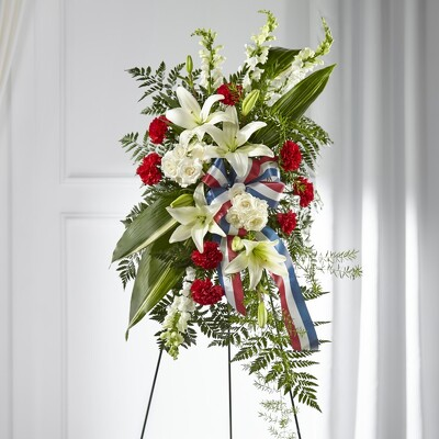 S114 Patriotic Easel from Fabbrini's Flowers in Hoffman Estates, IL