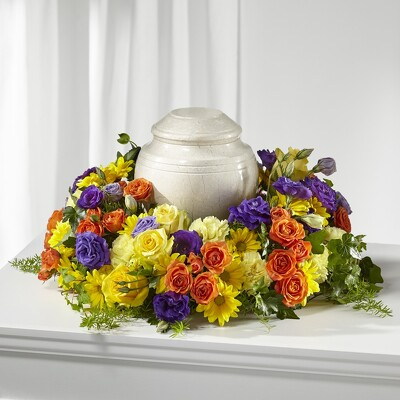 S155 Urn So Bright from Fabbrini's Flowers in Hoffman Estates, IL