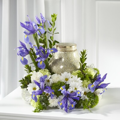 S156 Urn of Blues from Fabbrini's Flowers in Hoffman Estates, IL