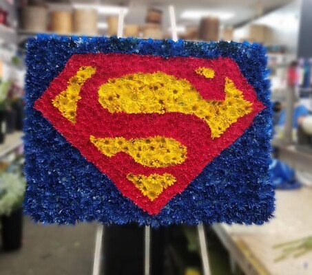 S216 Superman Easel from Fabbrini's Flowers in Hoffman Estates, IL