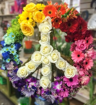 S217 Rest In Peace Wreath from Fabbrini's Flowers in Hoffman Estates, IL