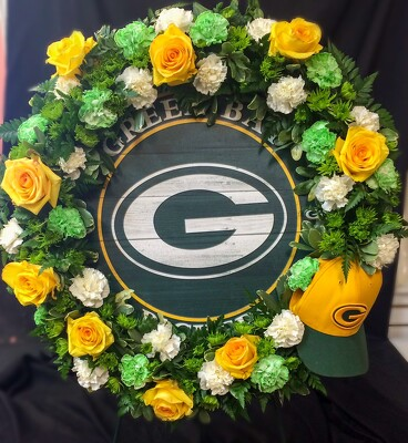 S218 Green Bay Packers from Fabbrini's Flowers in Hoffman Estates, IL