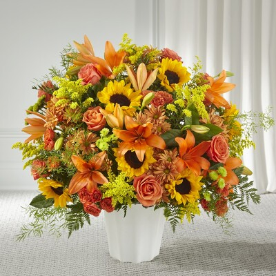 S219 Serenity fall fanback from Fabbrini's Flowers in Hoffman Estates, IL