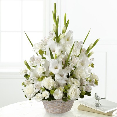 S223 Basket of White from Fabbrini's Flowers in Hoffman Estates, IL