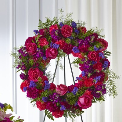 S152 Wreath of Jewels from Fabbrini's Flowers in Hoffman Estates, IL