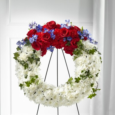 S139 The Patriot Wreath from Fabbrini's Flowers in Hoffman Estates, IL