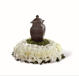 Urn flowers all white S184 from Fabbrini's Flowers in Hoffman Estates, IL